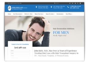 Hair Transplant Web design company