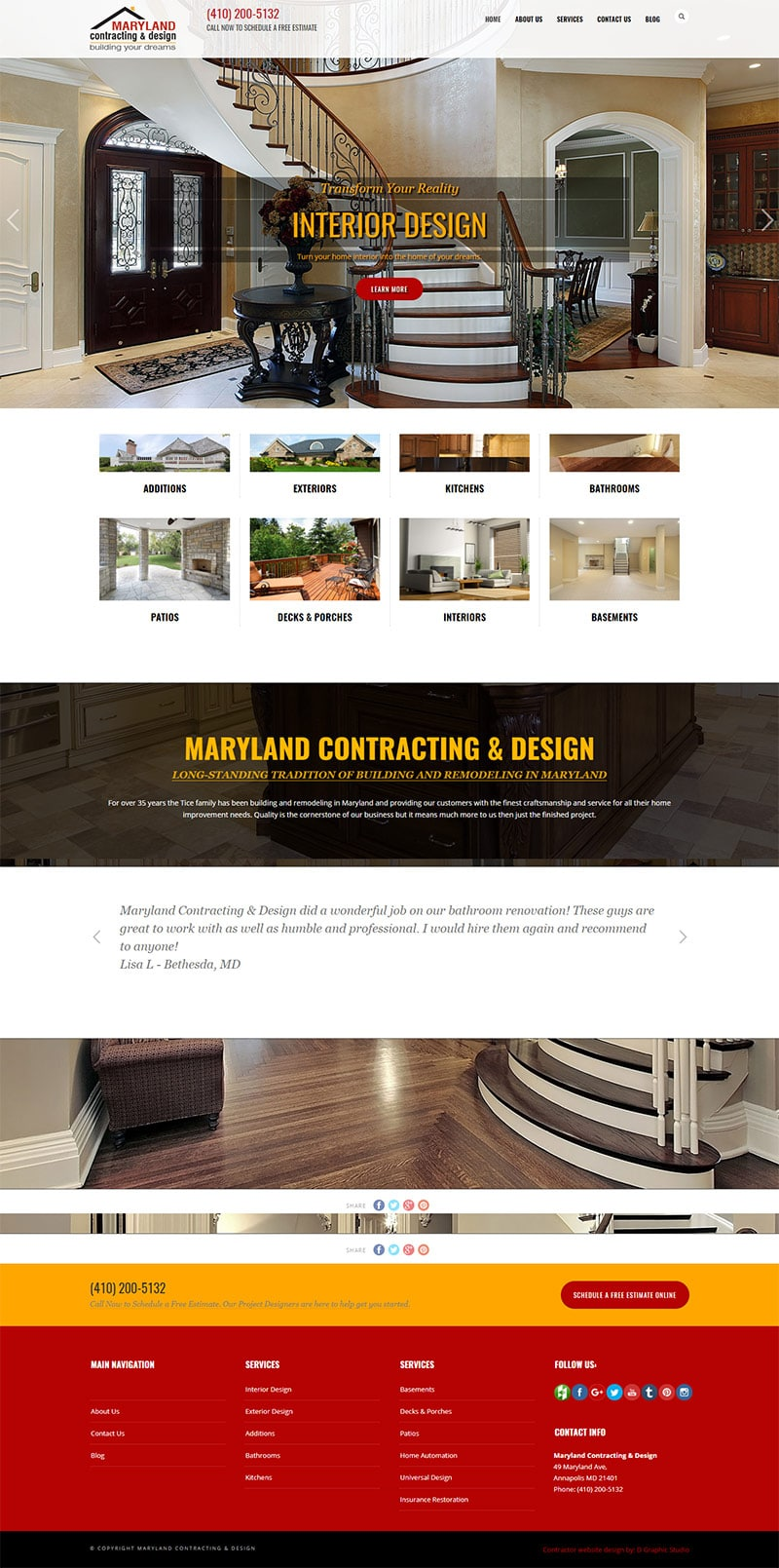 Contractor Web Design