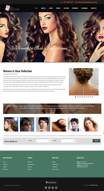 Hair Salon Web Design