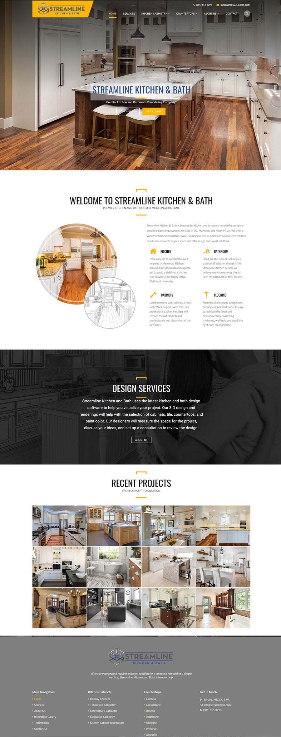 Kitchen cabinets Web Design