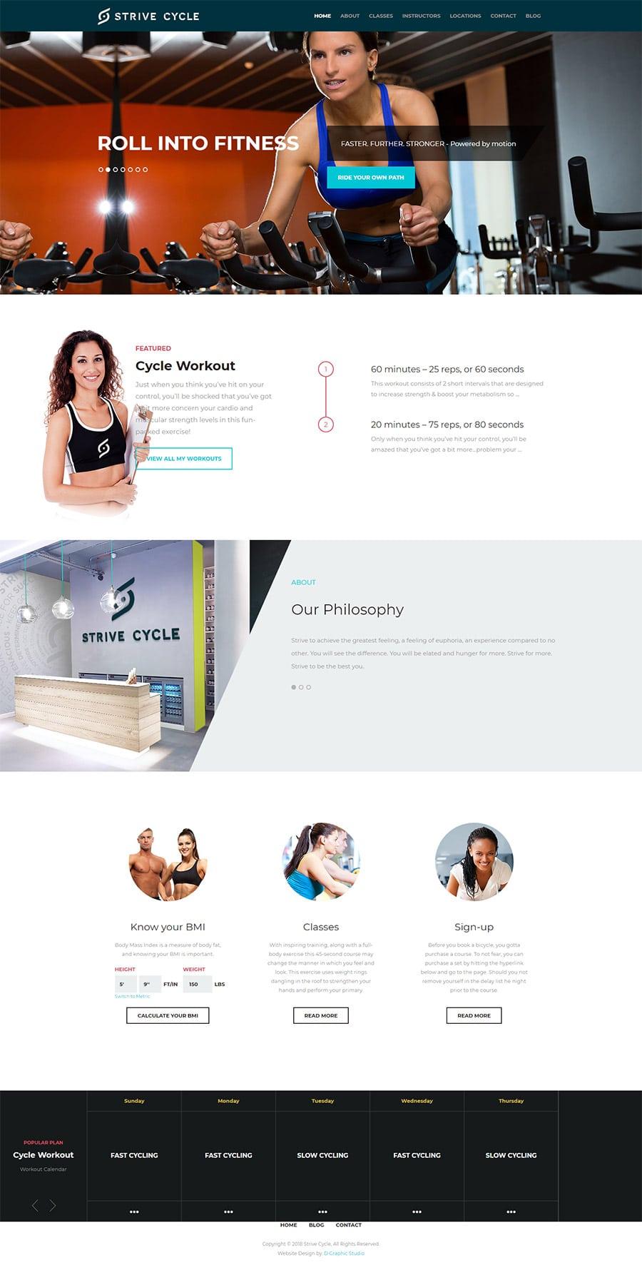 GYM Web Design company