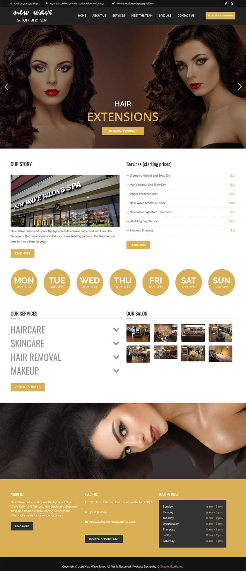 Hair Salon Web Design Services