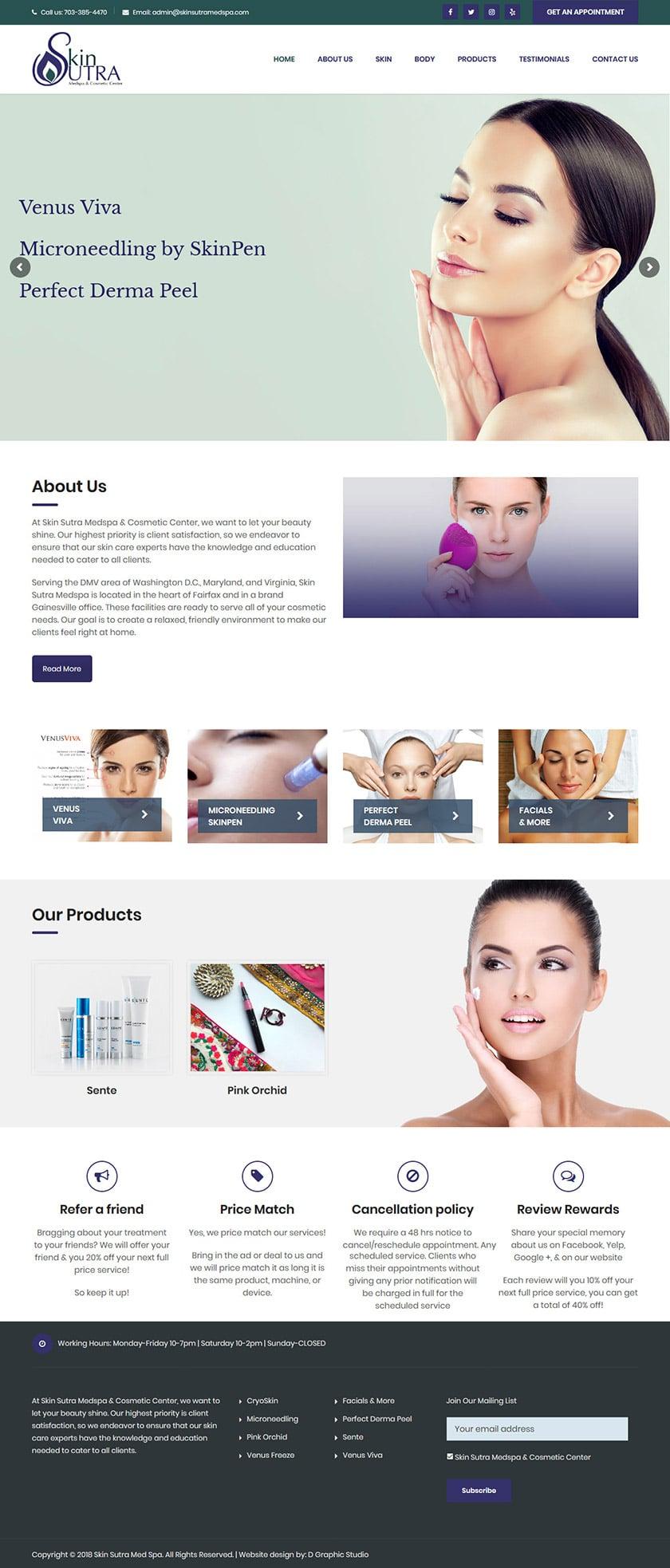 Med Spa Web Design Services