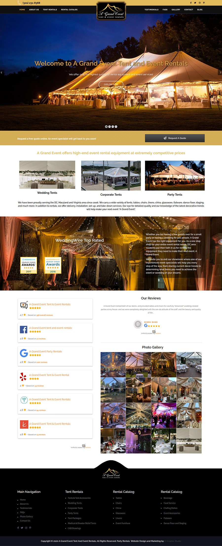 Party Rental Web Design